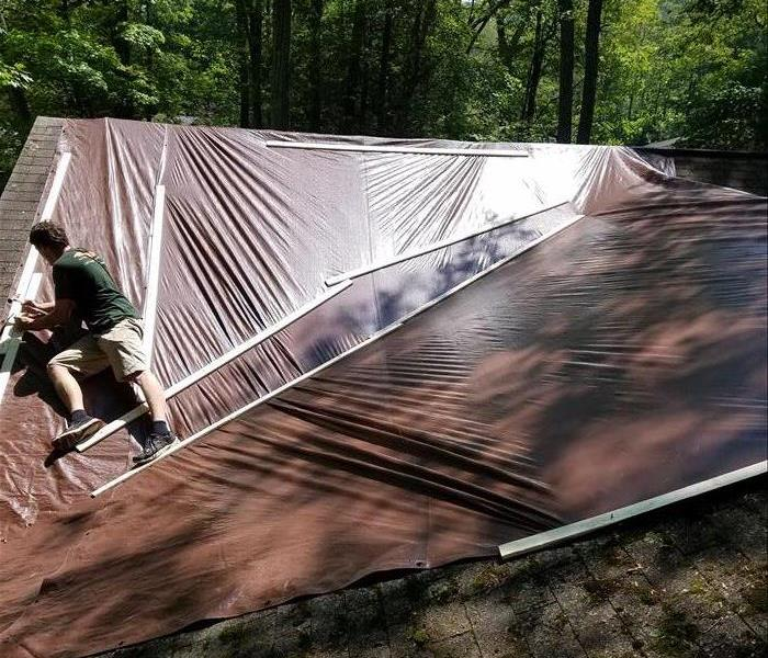 Emergency Roof Tarp-Storm Damage